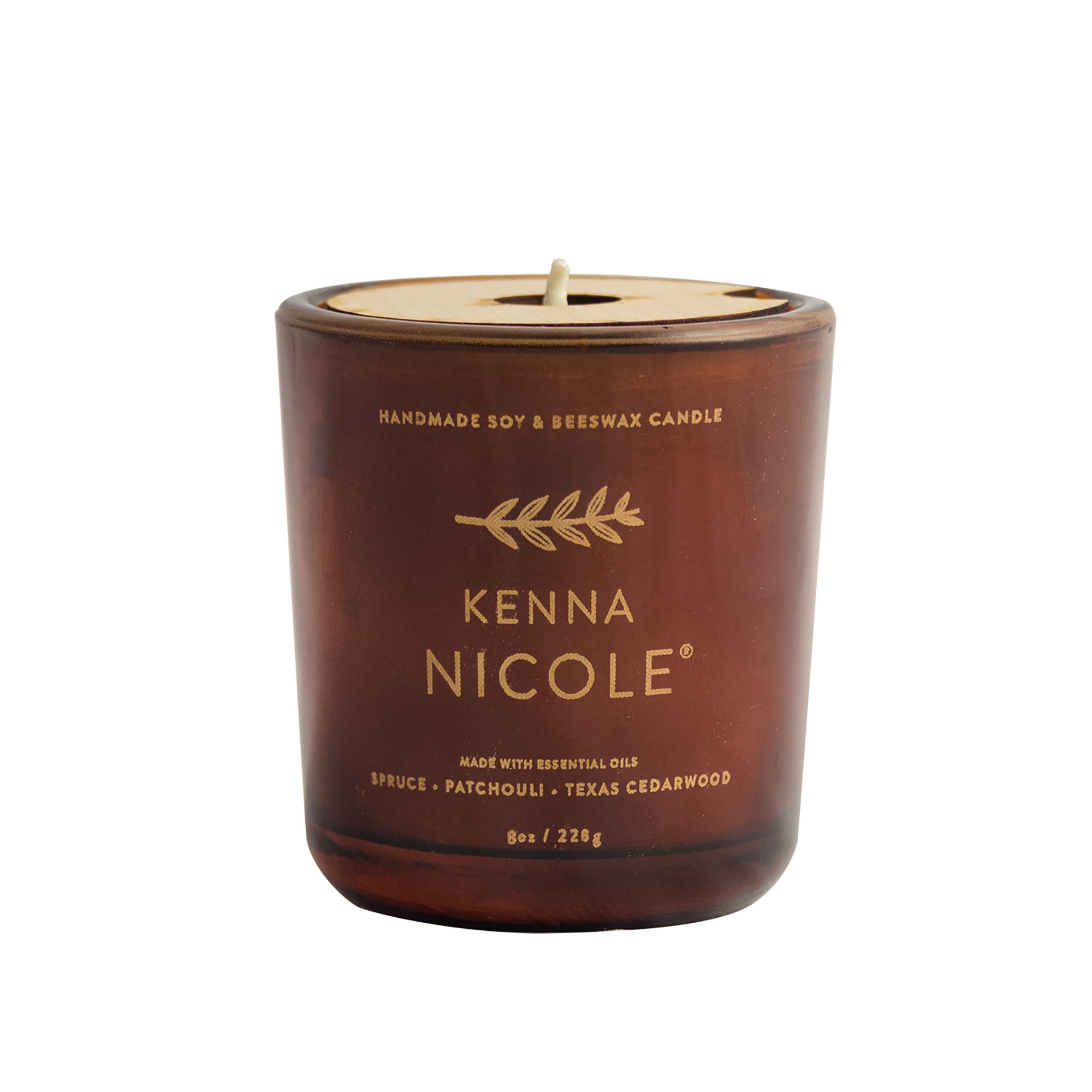 Kenna Nicole PATCHWOOD Soy + Beeswax Candle